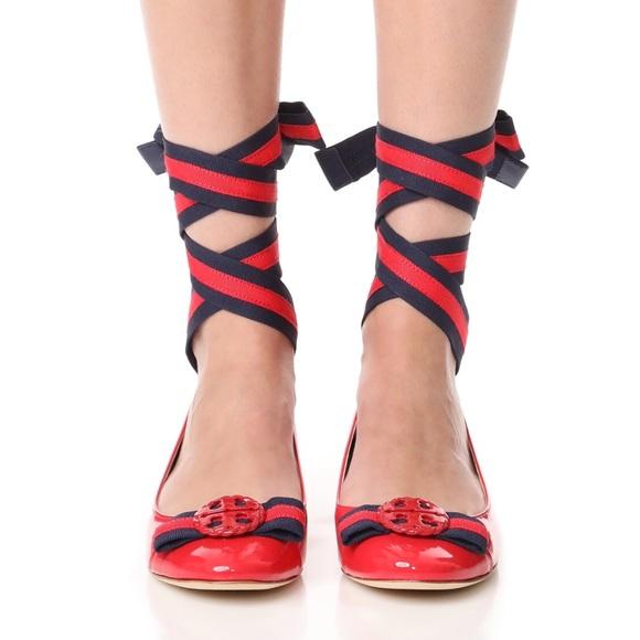 Ankle Wrap Ballet Flats